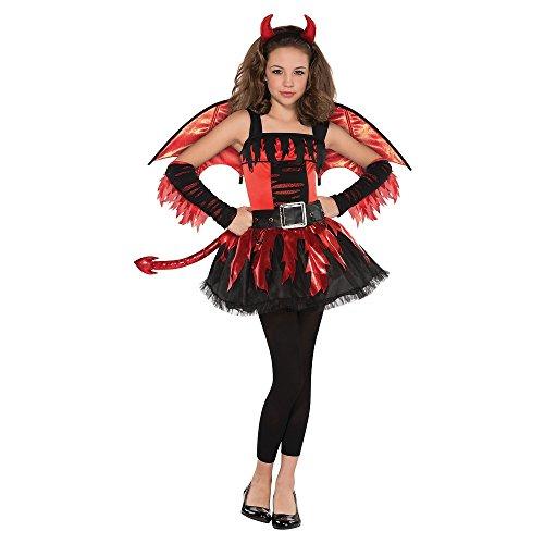 amscan Girls Daredevil Costume - Large (12-14), -