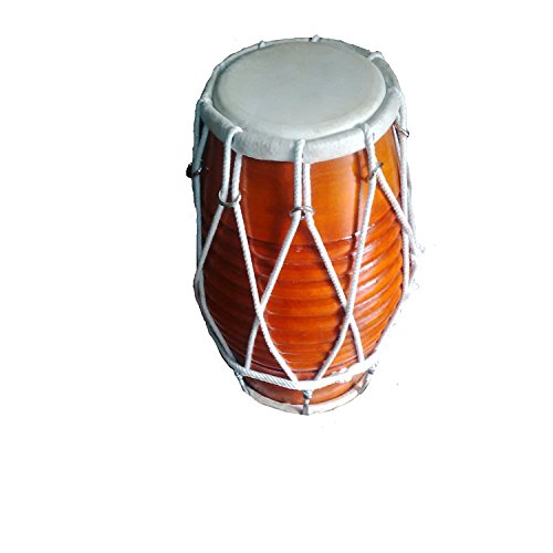 Brand new dholak,natural polish mango wood,great sound dholki rope and bolt tuned. by SAI MUSICAL