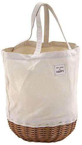 Bag fabric fabric Bag Wicker heart Round rxrwZ