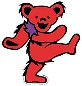 Amazon Com Grateful Dead Large Red Dancing Bear