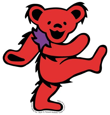 Grateful Dead - Large Red Dancing Bear - Sticker / Decal