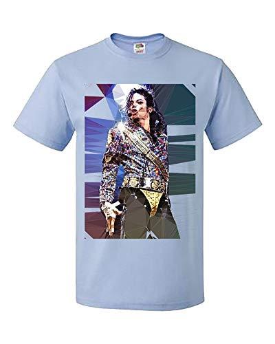 King Womens Light T-shirt - Palalula Women's Girls King of Pop Michael Jackson T-Shirt M384 Tribute T-Shirt S Light-Blue