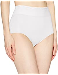 Women's No Pinching No Problem Microfiber with Lace Brief Panty