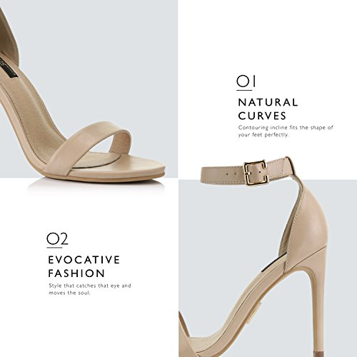 High Heel Women's Evening Sandal Dress Nude Ankle Platform Buckle Toe Pump Premium Shoes Casual Open Strap Rqqrdw5