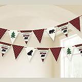 Amscan International 120386, Banner Pennant Little Lumberjack Birthday