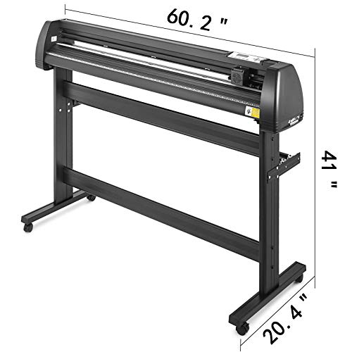VEVOR Vinyl Cutter 53 inch Plotter Machine 1340mm Paper Feed Vinyl Cutter Plotter Signmaster Software Sign Making Machinewith Stand (53Inch Style 2) by VEVOR (Image #1)