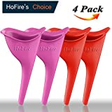 HF-0104 HoFire Female Urination Device-Lets You Pee Standing up-Lightweight Silicone Portable Travel Urinal Funnel Women-Perfect Camping, Traveling, Climbing, Festivals,Outdoor Activities-4 Pcs