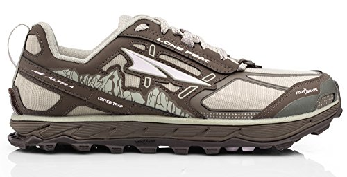 Altra AFW1855F Women's Lone Peak 4.0 Trail Running Shoe, Gray - 11...