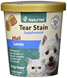 NaturVet Tear Stain Supplement Plus Lutein for Dogs and Cats, 70 ct Soft