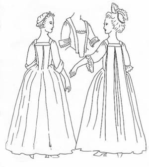 Robe 'A la Francais or A L'Anglaise pattern (Large, Sizes 16-18) (Hancock Costume Patterns)