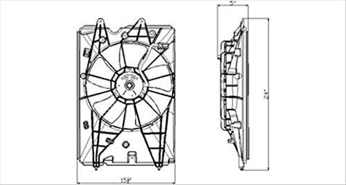Partslink Number HO3115151 OE Replacement Honda Pilot Radiator ...