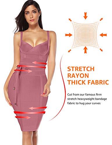 c1c1130d2 Jual Meilun Womens Rayon Belt Detail Bandage Bodycon Party Dress ...