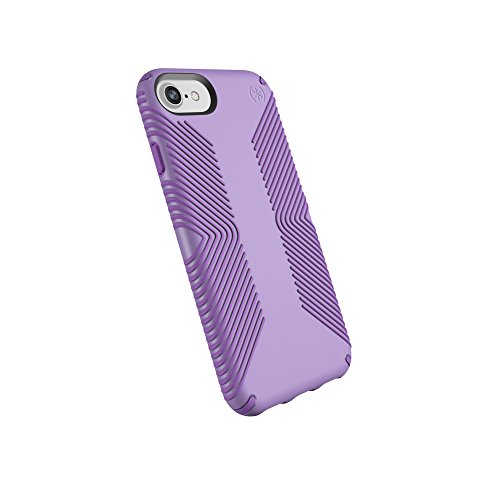Speck Products Presidio Grip Case for iPhone 8 (Also Fits 7/6S/6), Aster Purple/Heliotrope Purple (Speck Purple Case)