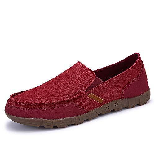 antiscivolo grandi Fuxitoggo sole Cachi Colore Beijing Dimensione dimensioni traspiranti 48 di per Soft Rosso Old Espadrillas EU uomo Fashion Scarpe qqx1zS
