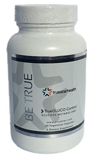 True Gluco Control Glucose Metabolism Support, Herbal Vegan Nutritional (Gluco Support Formula)