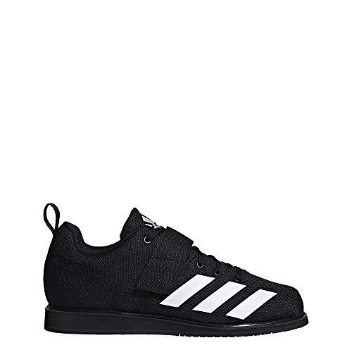 adidas Men's Powerlift 4 Weightlifting Shoe, black/white/black, 11 M US