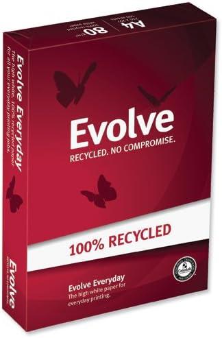 Double A Evolve - Papel reciclado para impresora (formato A4, 500 ...