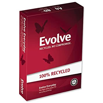 Double A A4 Evolve Recycled Copier Paper - White (Pack of 500)