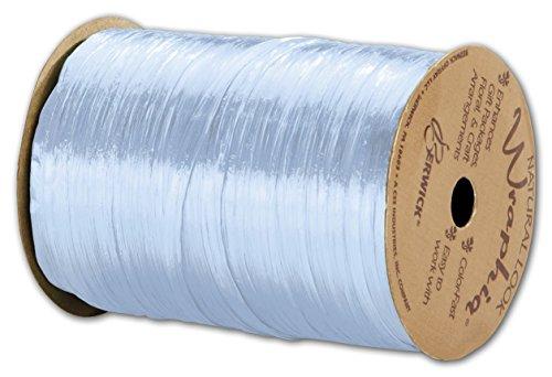 Solid Raffia - Pearlized Wraphia Light Blue Ribbon, 1/4