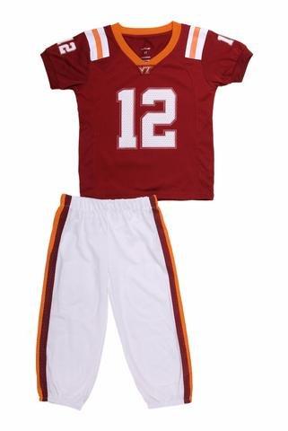 Ncaa Youth Uniforms - FAST ASLEEP Virginia Tech Hokies Youth Uniform Jersey Pajama Set (3)