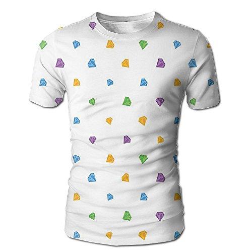 Edgar John Tiny Little Diamond Motifs On A Plain Background Pattern Men's Short Sleeve Tshirt S ()