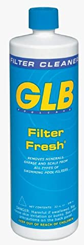 GLB Pool & Spa Products 71010 1-Quart Filter Fresh Pool Filter Cleaner