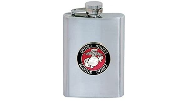 Other Bar Tools & Accessories Kitchen, Dining & Bar Hip Stainless Steel Flask 8 Oz With Us Marine Corps Emblem Last Style