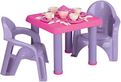 Generic LQ..8..LQ..3782..LQ e Chair Play Preschool Tea Se Table Chairs Pr Children Games ool Chi Kids Party Tea es Kit Home Kit Home (Ool Party)