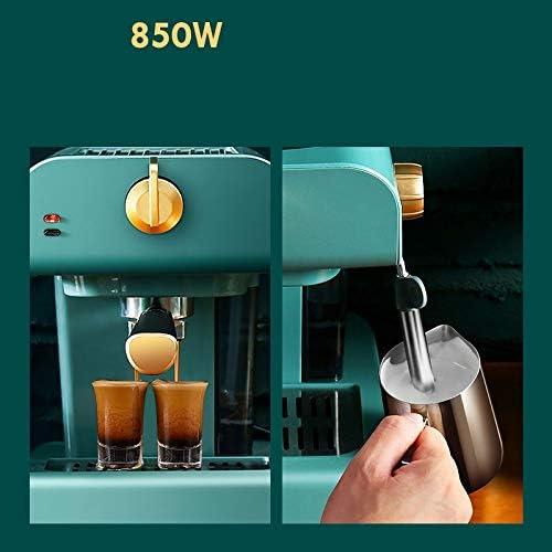 SPNEC PQQWW Rétro Semi-Automatique Machine à café Espresso à Pompe Type de ménage Mini Lait intégré Frother