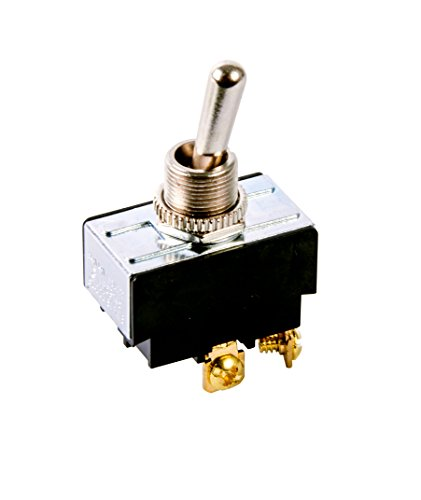 Gardner Bender GSW-14 Electrical Toggle Switch, DPST, ON-OFF,  2 A/125V AC,  Screw Terminal