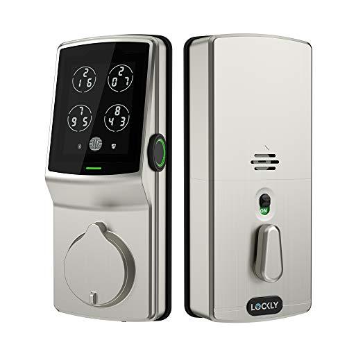 Lockly Fingerprint Bluetooth Keyless Entry Door Smart Lock (PGD728F) | Advanced 3D Fingerprint Reader | Discrete PIN Code Input | iOS and Android Compatible | Auto Lock | Battery Backup