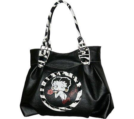 Betty Boop Signature Product Women's Betty Boop Bag BQ1012 Casual Handbag,Black, Bags Central
