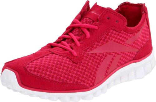 Reebok Women's Realflex Runner Running Shoe,Uberberry/Overtly Pink/White,10 M US