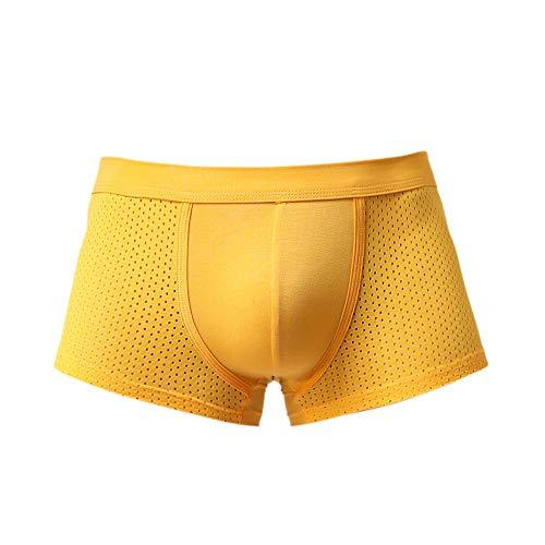 malla Hipster transpirable de ropa Aimee7 bragas Boxer amarillo hombre Briefs interior breves baratos wq0xTRUn
