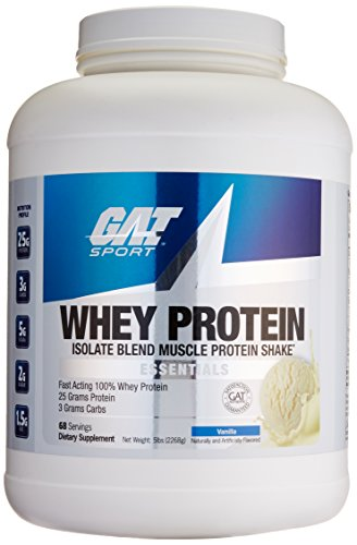 (GAT Whey Protein Isolate Blend, Vanilla, 5 Pound)
