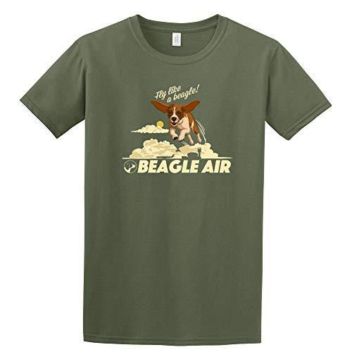 Beagle - Vintage Art - Contour (Military Green T-Shirt XX-Large)