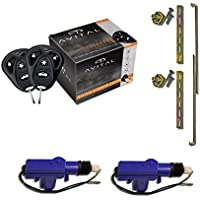 Avital 3100LX 3-Channel Keyless Entry Car Alarm with Remotes and Failsafe Starter Kill-Set + (2) Heavy Duty Universal 12 Volt 360 Degree Power Motor Door Lock Actuator