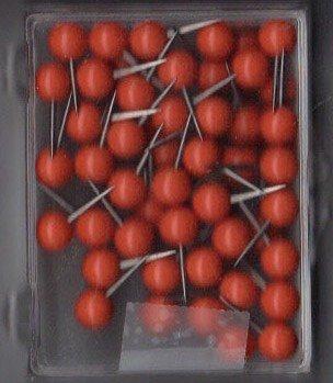 1/4 Inch Map Tacks - Orange