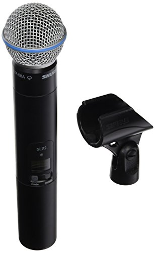 Beta58 Wireless Handheld Transmitter Microphone - Shure SLX2/BETA58 Handheld Transmitter with BETA 58A Microphone, G5