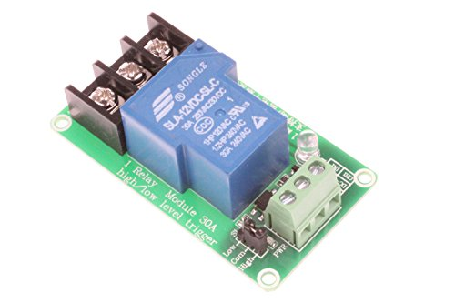 NOYITO 30A 1 Channel Relay Module High Low Level Trigger With Optocoupler Isolation Load DC 30V AC 250V 30A for PLC Automation Equipment Control Industrial Control (1 Channel 12V)
