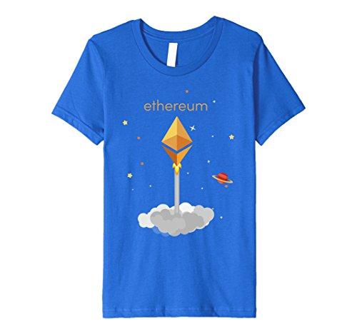 Kids Premium Ethereum Crypto T-Shirt 4 Royal Blue