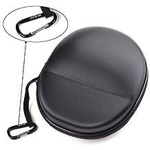 Case Star ® Black Color EVA Hard Shell Carrying Headphones Case / Headset Case Travel Bag for Sennheiser HD 598 / Sennheiser HD558 / Sennheiser HD-280 PRO Headphones / Razer Kraken Pro Headphones