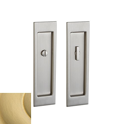 Baldwin PD005040ENTR Large Santa Monica Keyed Entry Pocket Door - Satin Brass