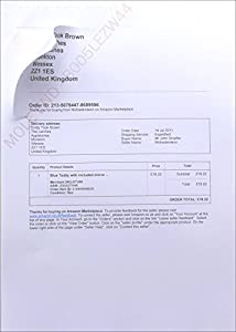 Amazon Despatch Note Invoice Integrated Label Paper - Invoice with ...