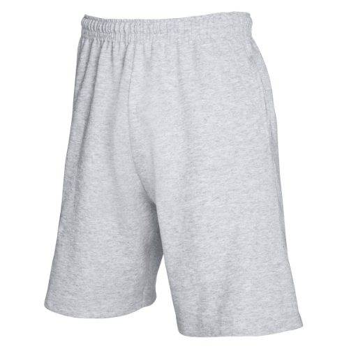 Fruit of the Loom Mens Lightweight Casual Fleece Shorts (240 GSM) (XL) (Heather Grey)