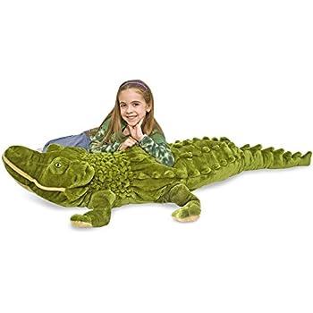 Melissa & Doug Giant Alligator -  Lifelike Stuffed Animal (nearly 6 feet long)