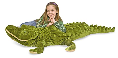 Melissa & Doug Giant Alligator -  Lifelike Stuffed Animal (nearly 6 feet long)