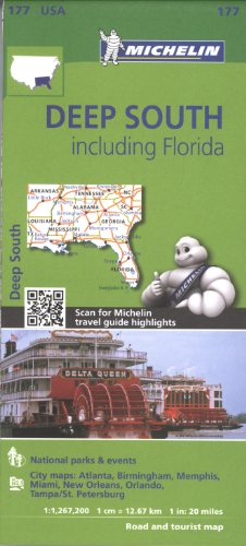 Michelin USA Deep South Including Florida Map 177 (Michelin Zoom USA Maps) (Deep Map)