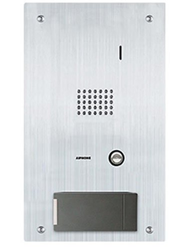 Aiphone Corporation IS-SS-HID-I Flush Mount Audio Door Station with HID iCLASS Reader, IS Series, Stainless Steel Faceplate 7