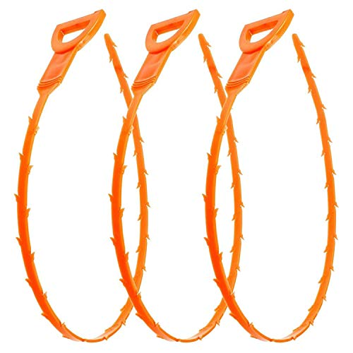 TOP SELLING 3 PACK DRAIN SNAKE! REMOVE CLOG & HAIR IN SECONDS!